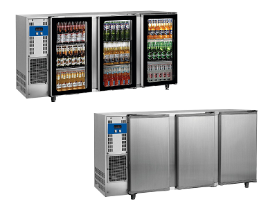 Arrière de bar réfrigéré pour bouteilles et canettes