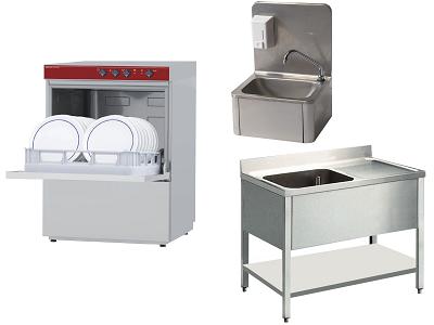 Matériels de lavage et d'hygiène pour glaciers et chocolateries