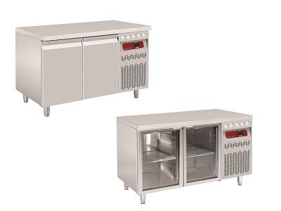 Table de travail frigorifique GN inox pour professionnels